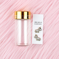 22K Gold Plated Unicorn - Earrings