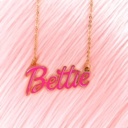 Bettie Page™ - Bettie Name - Necklace