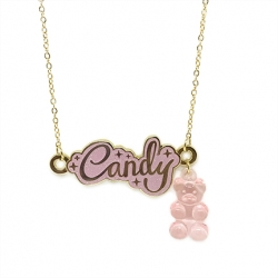 Candy Coated Gummy Bear - Necklace