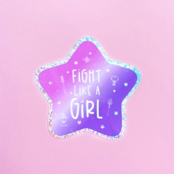 Fight Like A Girl - Glitter - Sticker
