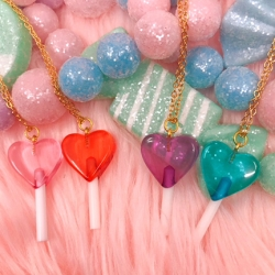 Heart Lollipop - Necklace