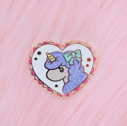 Heart Unicorn - Enamel Pin