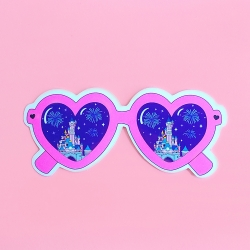 Heart Glasses - Pink Night_Sticker