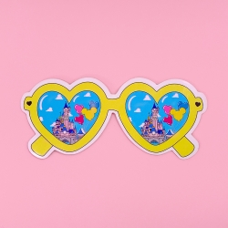 Heart Glasses - Yellow Day - Sticker