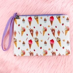 Ice Cream Faux Leather - Pouch