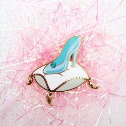 Magical Evening Slipper (Blue Rhinestone) - Enamel Pin