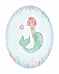 Mermaid 5x7 - Print