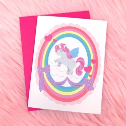 Pretty Unicorn - Card
