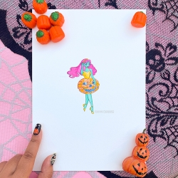 Watercolor Painting - Pumpkin