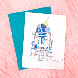 R2D2 Birthday - Card