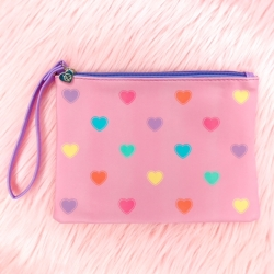 Rainbow Heart Faux Leather - Pouch