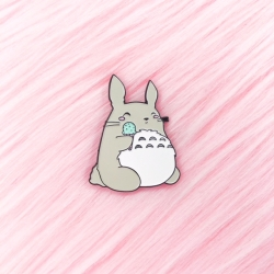 Totoro Eating Ice Cream - Enamel Pin