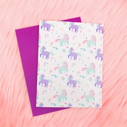Unicorn Pattern - Card