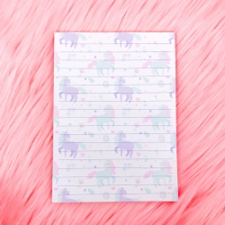 Unicorn Pattern - Notepad